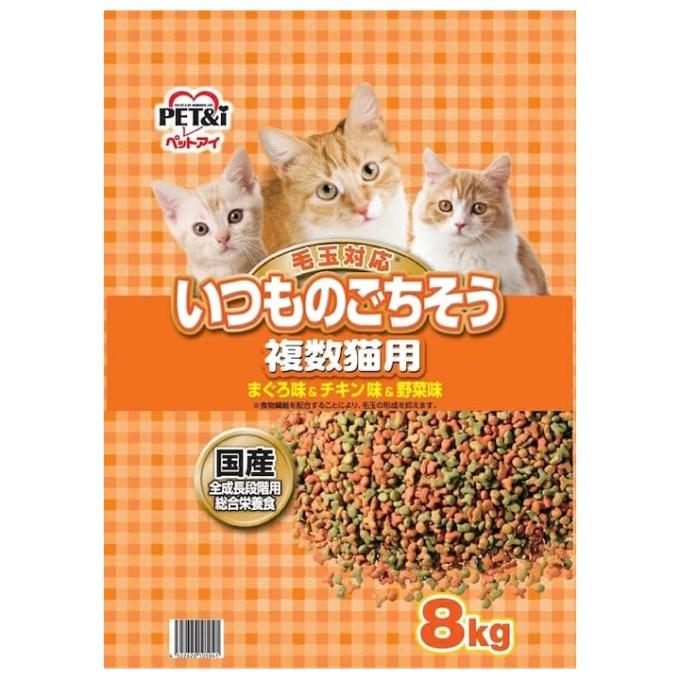 ペットアイ いつものごちそう 複数猫用 8kg キャットフード 国産 お一人様2点限り 関東当日便