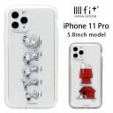 スヌーピー IIIIfit clear ハードケース iPhone 11 Pro スマホケース ケース 透明 ピーナッツ ……