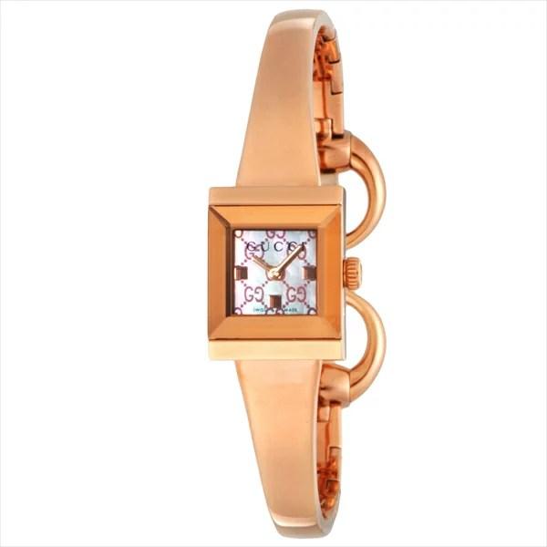 Brand Shop AXES: Gucci 古奇手錶手錶 Gucci 手錶女士 YA128518 G 框架 GUCCI 手錶看粉紅色 / 粉紅珍珠 | 日本樂天市場