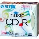 アールアイジャパン RiTEK 音楽録音用CD-R 5mmスリムケース10枚入 CD-RMU80.10P C CDRMU8010PC【納期目安:3週間】