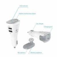 【新品】 dodocool デュアルUSBカーチャージャー 2ポート(5V/2.4A或いは5V/1A) ワイヤレス式Bluetooth4.1ヘッドセット HDマイクハンズフリーイヤホン