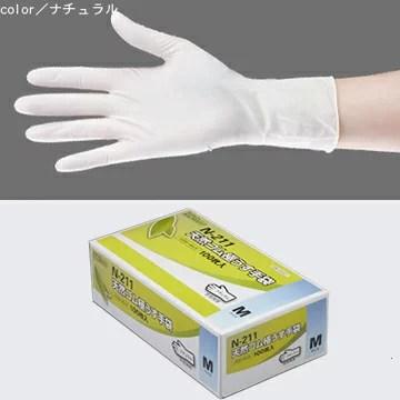 天然ゴム極うす手袋 100枚入 N-211 パウダータイプ(