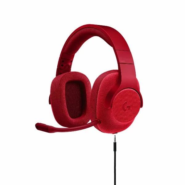 ゲーミングヘッドセット ロジクール G433 レッド【送料無料】 7.1chサラウンド PS4 PC ニンテンドーSwitch Xbox One 高音質 ヘッドホン ヘッドフォン 【2年保証】