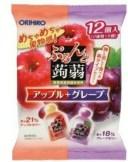 ぷるんと蒟蒻ゼリーパウチ アップル+グレープ(12個)