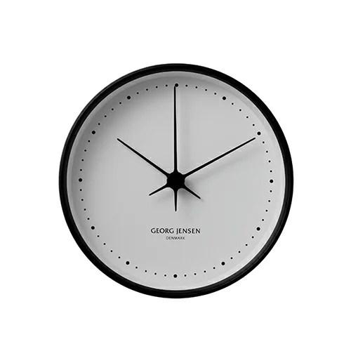 Georg Jensen (ジョージ ジェンセン)掛時計HK(エイチケー)ウォールクロック 22cmブラック