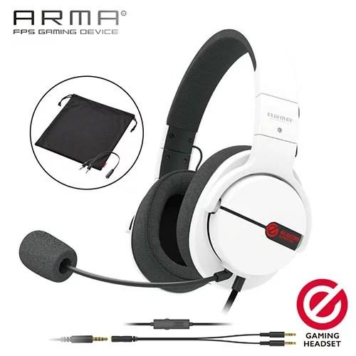エレコム HS-ARMA100WH(ホワイト) ゲーミングヘッドセット オーバーヘッド