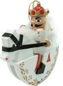丸和貿易 クリスマス 飾り ナッツクラッカーオブジェ キヘイタイ S ホワイト 400825801【smtb-s】