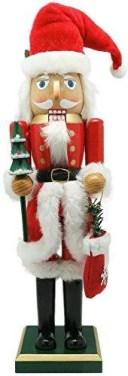 丸和貿易 クリスマス 飾り ナッツクラッカーオブジェ ツリーサンタ L 400826202【smtb-s】