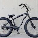 ファットバイク ビーチクルーザー 26インチ 極太タイヤ シマノ7段変速 自転車 ディスクブレーキ【送料無料】但し沖縄・離島は除く