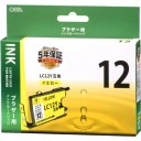 オーム電機 [014180] プラザー用 LC12Y互換 INK-B12B-Y