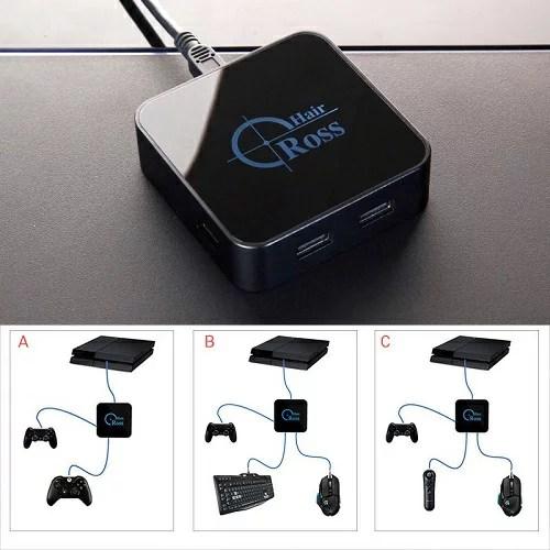 送料無料 新品●Cross Hair converter クロスヘアーコンバーター●FPS 日本語説明書付 8分認証●ゲーム  Nintendo Switch対応 対応機種 PS4/PS3/xbox360/xbox one/XBox 360/任天堂スイッチ/PSVR