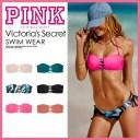 【希少!大人気!レディース スイムウェア】 Victoria's Secret (ヴィクトリアズ・シークレット) PINK STRAPPY BANDEAU TOP (ピンク スト..