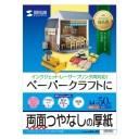 ペーパークラフト用紙 (インクジェット/レーザー対応・A4サイズ・50枚入り) サンワサプライ JP-EM1NA4N-50 サンワサプライ【ネコポス対応】