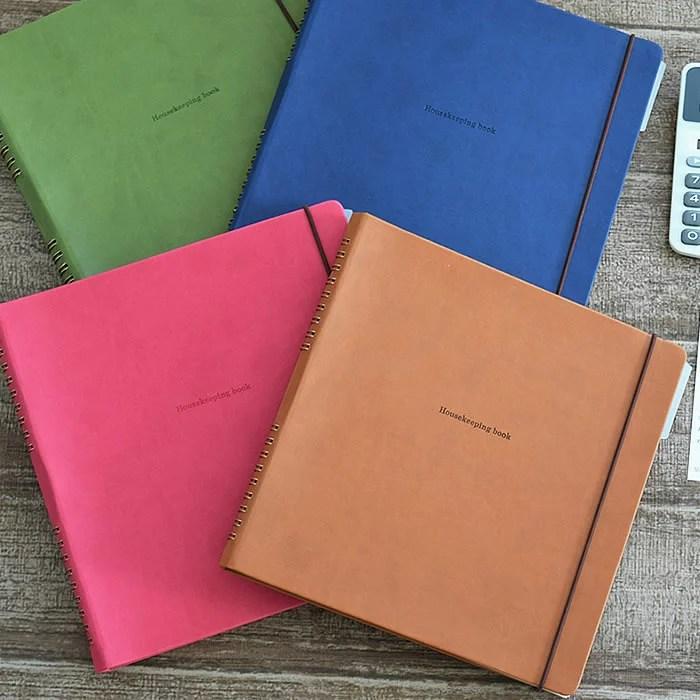 家計簿 ハウスキーピングブック パヴォ ハイタイド HIGHTIDE PUレザー マンスリー 家計管理 支出管理 貯蓄 ...
