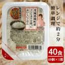 【ふるさと納税】低温製法米パックライス180g×40個(茨城県境町産コシヒカリ使用)