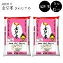 【ふるさと納税】定期便 米 BG無洗米 金芽米 きぬむすめ