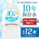 【ふるさと納税】水 10年保存水 1.8L×12本セット【災