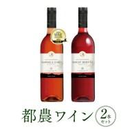 【ふるさと納税】人気の定番!!ロゼ&赤2本セット(都農ワイン