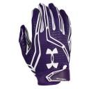 アンダーアーマー メンズ アメフト グローブ 手袋【Under Armour Swarm II Football Gloves】Purple/White/White