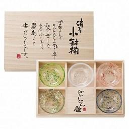 【ガラス食器】びーどろ館 五彩 小鉢揃 CB-3003A 木