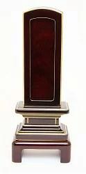 回出位牌 (繰り出し位牌) 吉野 #01 紫檀 40 表板(紫檀):1枚 中板:紫檀4枚