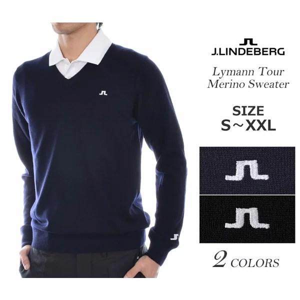 (福袋対象商品)ジェイリンドバーグ J LINDEBERG 長袖メンズゴルフウェア ライマン ツアー メリノ 長袖セーター 大きいサイズ USA直輸入 あす楽対応