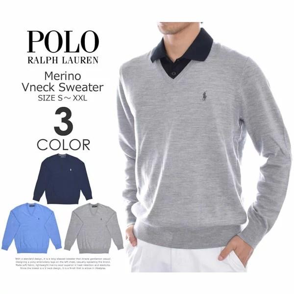 (福袋対象商品)ポロゴルフ ラルフローレン メンズウエア メリノ Vネック 長袖セーター 大きいサイズ USA直輸入 あす楽対応