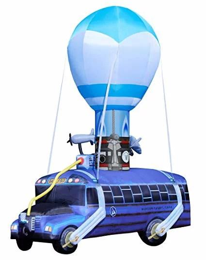 【送料無料】日本未発売 巨大風船 エアブロワー バルーン ハロウィン おもちゃ フォートナイト Fortnite Battle Bus Inflatable 気球 バトル バス  海外直輸入