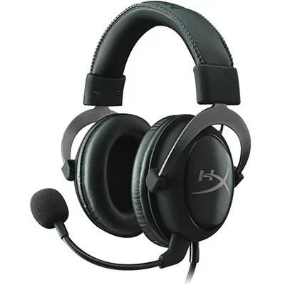 【Gaming Goods】KINGSTON KHX-HSCP-GM ガンメタ/黒 ゲーミングヘッドセット HyperX Cloud II- Pro Gaming Headset