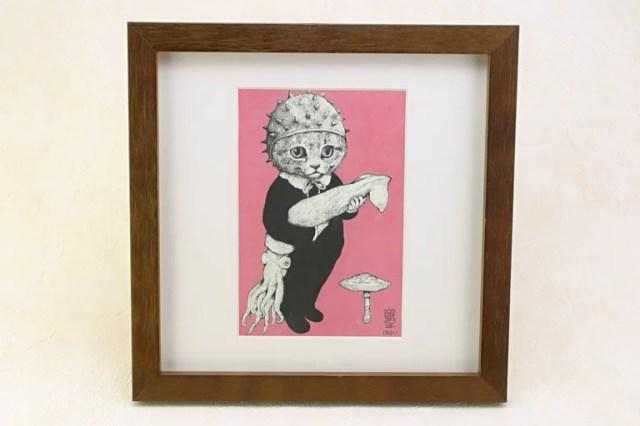 ヒグチユウコ けらい ポストカード 猫 ねこ 額付き 絵画【RCP】