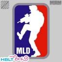 【MSM(ミルスペックモンキー)】パッチ MLD Major League Doorkicker(刺繍)/MIL-SPEC MONKEY/ベルクロ/パッチ/ワッペン/メジャーリ..