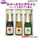 「八剣山ワイナリー スパークリングワイン ハーフ3本ギフト箱