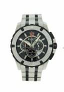 【送料無料】腕時計 ウォッチメンズブラックラウンドクロノグラフステンレススチールウォッチ