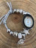 【送料無料】ブレスレット ペンダントブレスレットカフbracciale da donna orologio con charm ciondoli polso braccialetto stella c..