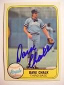 【送料無料】スポーツ メモリアル カード dave chalkroyals 1981ベースボールカードauto texas longhorns rangersdave chalk signed..