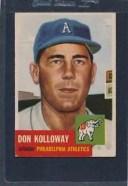 【送料無料】スポーツ メモリアル カード #ドン#1953 topps 097 don kolloway a039;s vgex 53t97819151
