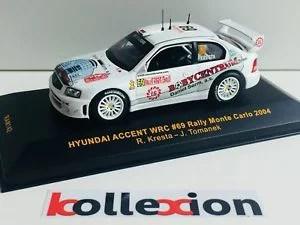 【送料無料】模型車 モデルカー スポーツカー ネットワークアクセントラリーモンテカルロガルデマイスターixo ram142 hyundai accent wrc n69 rally monte carlo 2004 kresta tomanek 143