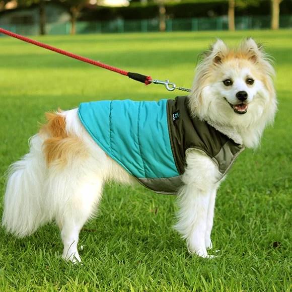 【犬服 秋冬】iDog  (アイドッグ) バイカラーがオシャレなダウン風ジャケット