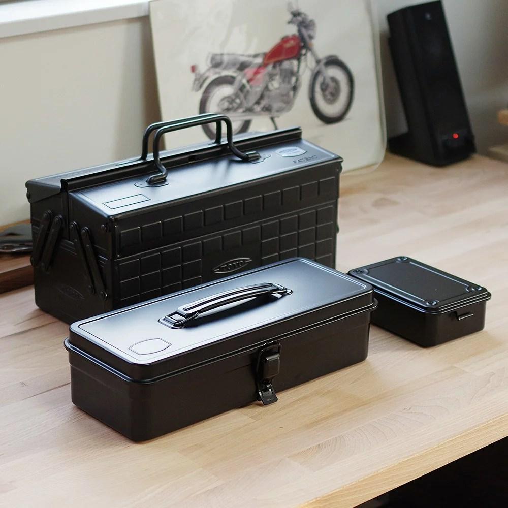 【楽天市場】東洋スチールのツールボックス(TOOLBOX) 日本製の工具箱!道具入れとしても収納箱としても! STEEL TOOLBOX STORAGE st-350 DOUBLE LAYER ...