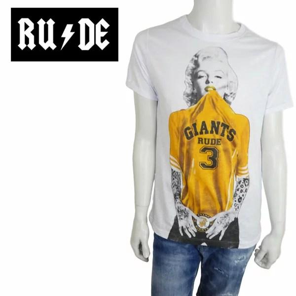【ポイント5倍】【ネコポス対応】RUDE (ルード) 半袖 Tシャツ [メンズ] RM-GIANTS 【WHT/S・M・