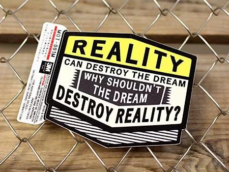ステッカー 車 アメリカン 世田谷ベース かっこいい ことわざ カーステッカー 「現実は夢を壊す時がある...」 サイズM 【メール便OK】_SC-MOT001M-SXW