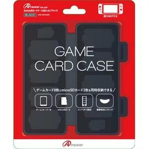 【Nintendo Switch】Switch用 カードケース 8枚入れ(ブラック) 【税込】 アンサー [ANS-SW013BK]【返品種別B】【RCP】