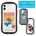 スペース・プレイヤーズ iPhone 12 mini クリアケース キズ防止 カバー ハイブリッド 透明 iPh……