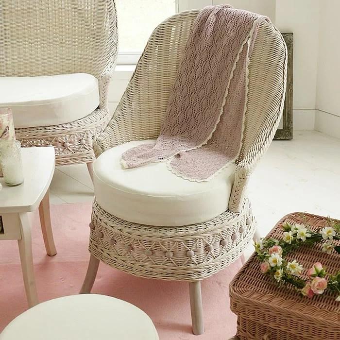 ラタンチェア 姫系 椅子 チェア かわいい ラタン パーソナ