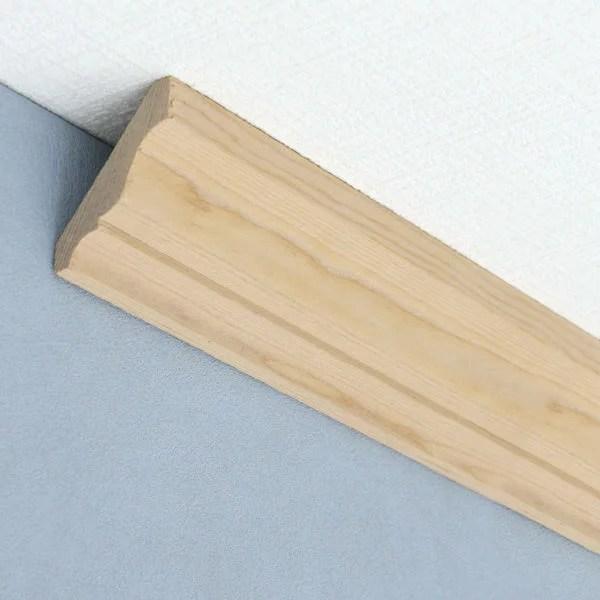 モールディング[クラウン(廻り縁) H54ベイツガ 無塗装 12.7mm×57.1mm×長さ約3.6m(1本単位で発売)]