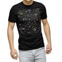 tシャツ メンズ 半袖 ブラック デザイン XS S M L XL 2XL Tシャツ ティーシャツ T shirt 黒 001276 キラキラ クラッカー 星