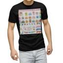 tシャツ メンズ 半袖 ブラック デザイン XS S M L XL 2XL Tシャツ ティーシャツ T shirt 黒 013478 プレゼント ふうせん クラッカー