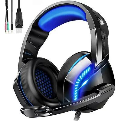 PHOINIKAS ゲーミングヘッドセット H-3 ブラック×ブルーPS4 PC Xbox One スマホに対応【送料無料】高音質の密閉型ヘッドホン 黒×青ゲーミングヘッドセット Playstation4※沖縄・北海道・九州・離島は送料別です