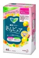 花王 ロリエ さらピュア スリムタイプ 10cc スパークリングフルーツの香り 安心微量用 吸水ライナー (40枚)