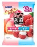 オリヒロ ぷるんと蒟蒻ゼリー パウチ ピーチ+ライチ (20g×12個入) ※軽減税率対象商品